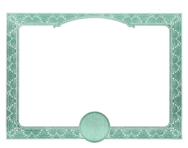 blank stock certificates border only certificates