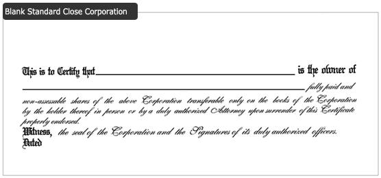 back certificate wording