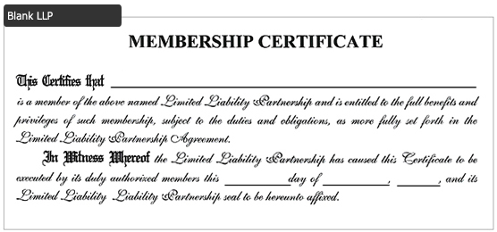 stock certificate wording page