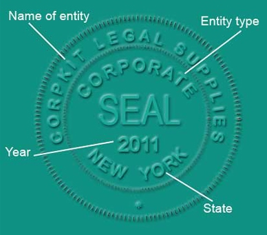 Company stamp sample for Common seal template