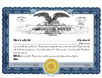 Electronic Digital Single Class Eagle Stock Certificates