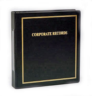 thrift corporate kit minute book binder