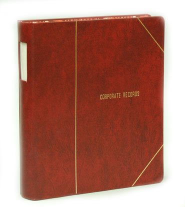 Excalibur corporate kit minute book binder