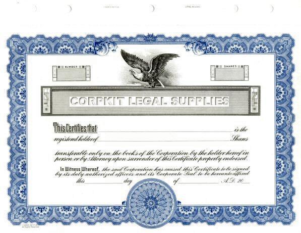 blank stock certificates. Black Bedroom Furniture Sets. Home Design Ideas