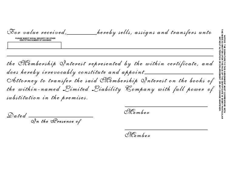 Llc Membership Interest Certificate Best Design