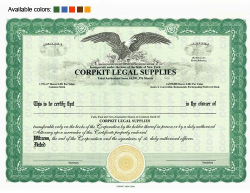 Non Legal Stock Certificate Template Free PrintableLegal