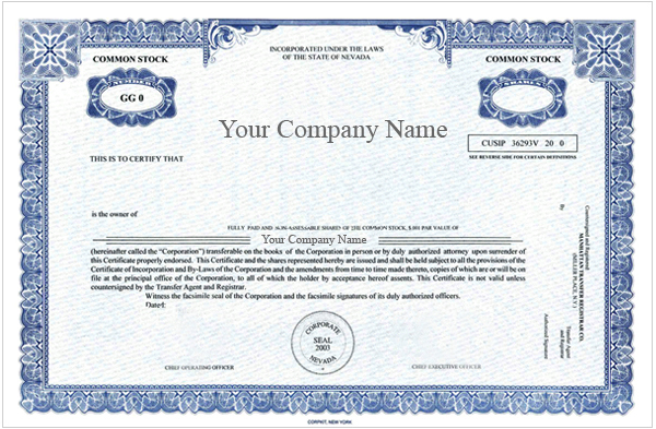 corporate bond certificate template - special order certificates special order certificate package