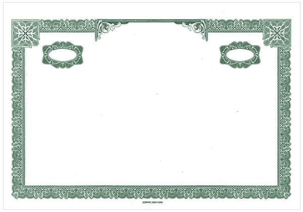 Do-It-Yourself Products :: Stock Certificates Border Only or ...